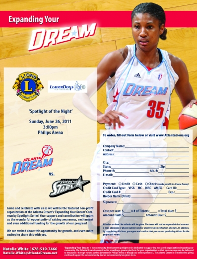 Atlanta Lions @ Atlanta Dream WNBA game